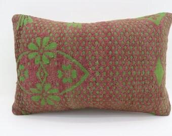 16x24 Pillows Turkish Kilim  Pillow Bohemian Pillow 16x24 Floral Pillow Red Pillow  Green Pillow Throw Pillow Cushion Cover SP4060-1318