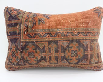 16x24 Kelim Kissen Carpet Pillow Orange Pillow Floral Pillow Striped Pillow 16x24 Turkish Decorative Rug Pillow Blue Pillow  SP4060-1387