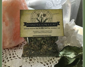 DANDELION LEAF - Divination, Wishes, Good Luck, Spirit Calling, Psychic Powers