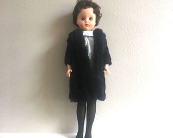 1950's Fashion Doll, 21 Inch Doll, Vintage Doll, Rooted Hair, Sleep Eyes, Molded Eyelashes, Pullam, VH3-21, Collectible Doll, Vinyl Doll