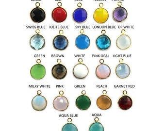 ON SALE Faceted Topaz,Onyx,Amethyst,Quartz & Chalcedony 24k Gold Plated, Round Bezel, Single Bail Connector Pendant Handmade Gemstone Jewelr