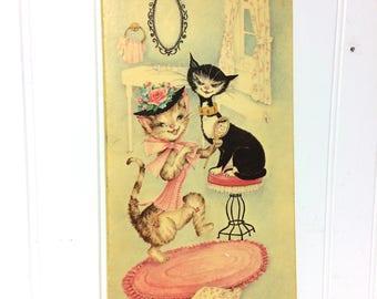 Vintage Margery D'Arcy Print on Board