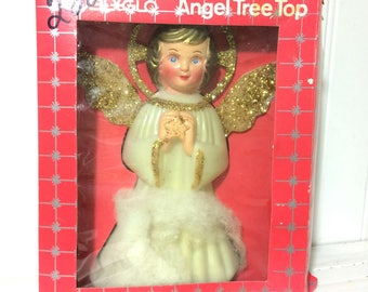 Vintage Doubl*Glo Angel Tree Topper