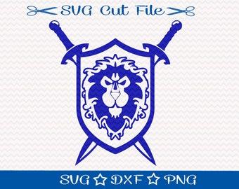 World of Warcraft SVG, For The Alliance SVG Cut File, Gamer SVg, Video Game SVg Cutting File, Nerd Svg, Gamer Svg