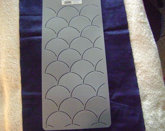 Sashiko Japanese Quilting/Embroidery Stencil 3 in. Clamshells Motif/Quilting