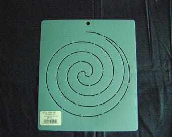 Sashiko Japanese Embroidery Stencil 6 in. Continuous Spiral Motif Block/Quilting