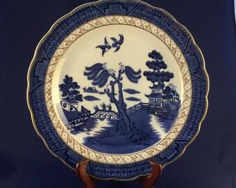 "Royal Dalton ""Real Blue Willow"" Dinner Plate"