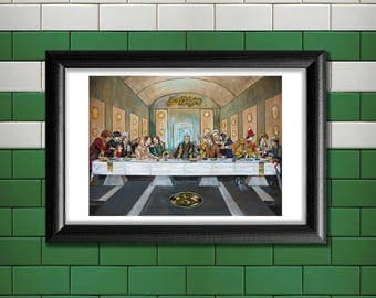 Doctor Who / Last Supper - Poster Print