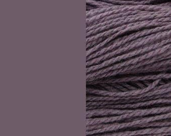 Wool yarn, dusty lilac | bulky, 2-ply worsted quick knit pure wool yarn 100g/130m