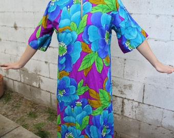 1970s colorful vintage dress