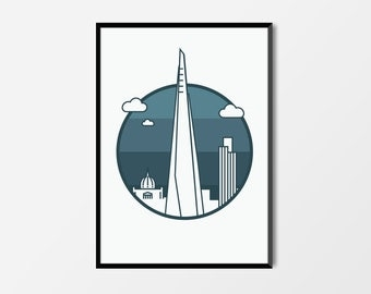 The Shard, London Print | London Artwork | Shard Print | Architecture Print | Skyline Print