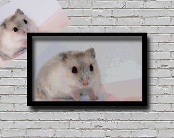 Custom Order Cross Stitch Pattern Your Pet Hamster Creative Decor Personalised Printable Pattern For Crafter Custom Hamster Pattern