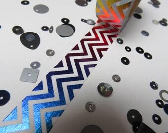 Rainbow foil chevron washi tape