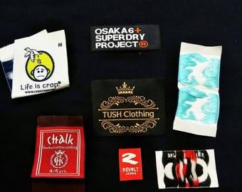 500 custom woven label