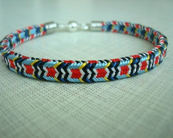 Colorful braided bracelet Bright kumihimo bracelet Friendship bracelet Japanese style Elegant bracelet Birthday gift Gift for girlfriend