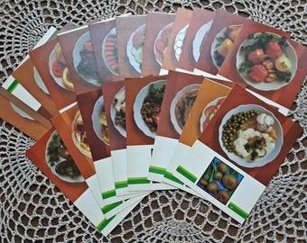 Vintage Vegetables Postcards,Vintage CCCP Card,Vegetable Recipes Soviet Union CCCP 1990