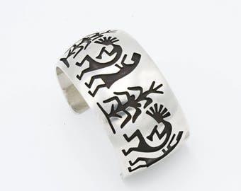 Kokopelli Silver Bracelet