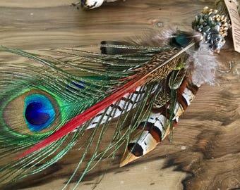 Deer Antler & Feather Smudge Fan Smudging Fan