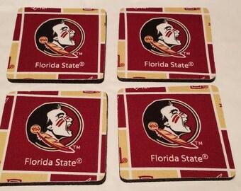 Florida State 4 Pack Coaster Set