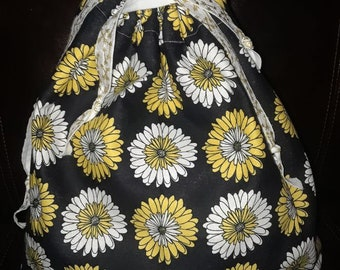 Daisy Draw String Bag
