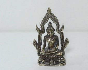 Silver God Goddess Icon Miniature Hindu Throne Solid
