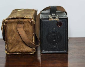 Kodak portrait brownie no 2 with carry case - 1930's