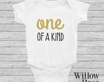 One Of A Kind Baby Onesie in Sizes 0000-1