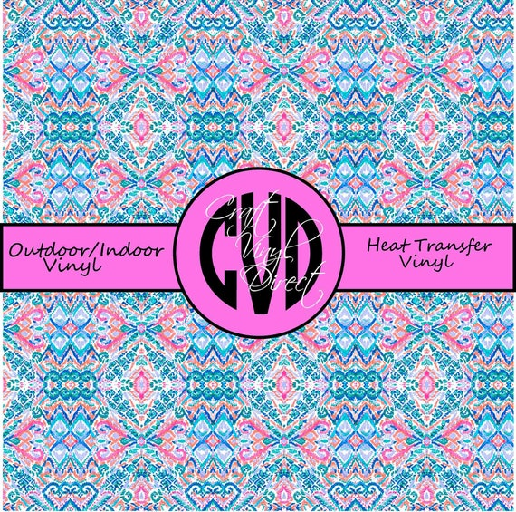Beautiful Patterned Vinyl // Patterned / Printed Vinyl // Outdoor and Heat Transfer Vinyl // Pattern 918