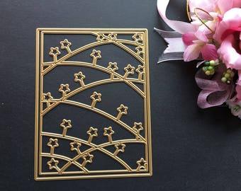Craft Metal Star Background Frame Die Cutter Set Cardmaking Scrapbooking Cutting Dies DC016