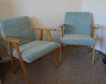Pair of 1970s Vintage Retro Scandinavian Lounge Chairs
