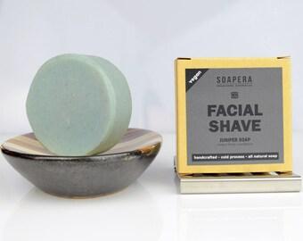 JUNIPER facial cleansing and shaving multi-tasking  soap-Men's grooming - Soap Era all natural handmade Cold Process vegan soap