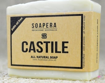 CASTILE SOAP -made with 100% Australia Extra Virgin Olive Oil ! Palm Oil Free !  - Soap Era all natural handmade Soap
