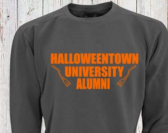 Halloweentown University Comfort Colors Sweatshirt! Halloween Sweatshirt Fall Shirt, Funny Disney Shirt Comfy Shirt for Fall Back To School