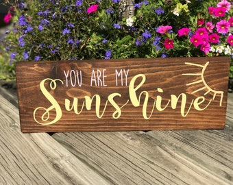 You Are My Sunshine Wooden Wall Hanging