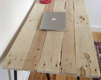 Handmade Reclaimed Wooden Desk 120cm