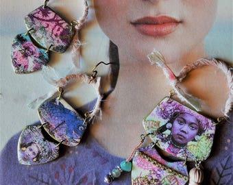 Set earrings - pendant Asiadream