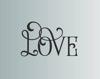Love quote adhesive vinyl wall decal, wall murals, wall typography, quality adhesive vinyl, family photos centerpiece