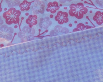 pink flower flannel baby blanket