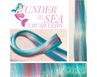 """UNDER The SEA CRUSH 18"""" Set Clip-In Hair Extensions - 4 Pieces!"""