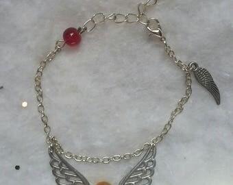 Inspired by Harry Potter, Golden snitch bracelet