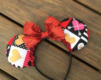 Heart Valentines Mouse ears