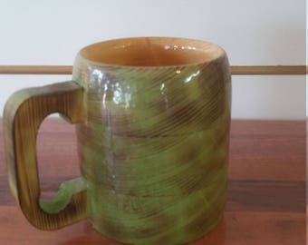 wooden coffee mug, 10oz.