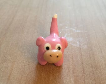 Pokemon Slowpoke Polymer Clay Figurine