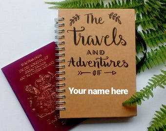 Personalised Travel Journal- Small- Notebook- Adventure Book