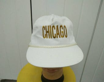 Rare Vintage CHICAGO Embroidered Cap Hat Free size fit all