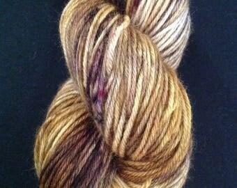 Maize Superwash Wool Yarn \ Worsted Weight Hand Dyed Wool Yarn \ Indie Dyed Yarn