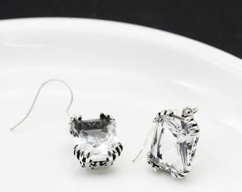 Transparent earrings vintage