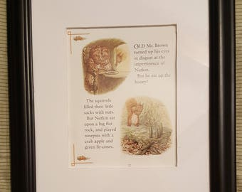 Honey and Ninepins - The Tale of Squirrel Nutkin by Beatrix Potter - Aproximaitely 5 1/2 x 7 1/2 inches