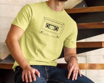 Tape Cassette T-shirt, Cassette Print Shirt, Cassette Tape Print, Cassette Print T-Shirt, Old Cassette Tape, Vintage Cassette Tape.