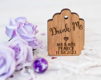 Drink Me Tags, Wedding Favor Tag, Shot Wedding Favor, Mini Liquor Bottle Label, Drink Me Gift Tags, Drink Me Wedding Favor Tags, 18TD